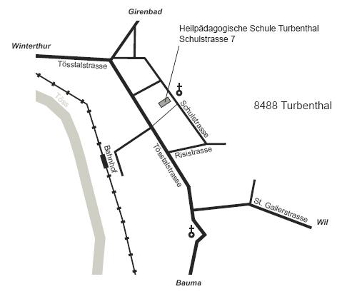 Lageplan HPS Turbenthal
